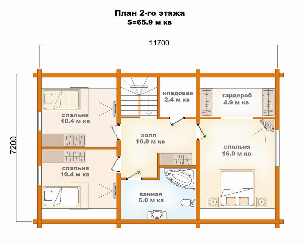 расположение комнат в доме 8 на 9 фото